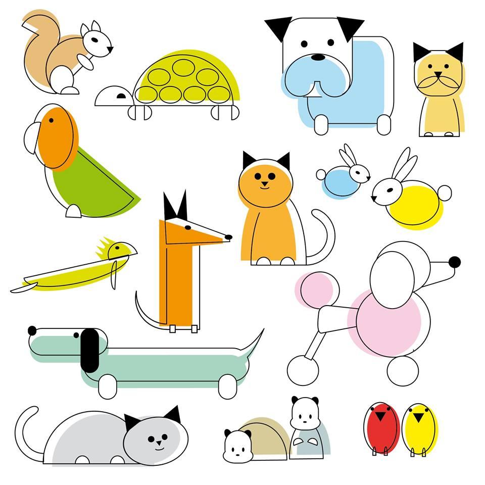 Ilustración para clínica veterinaria